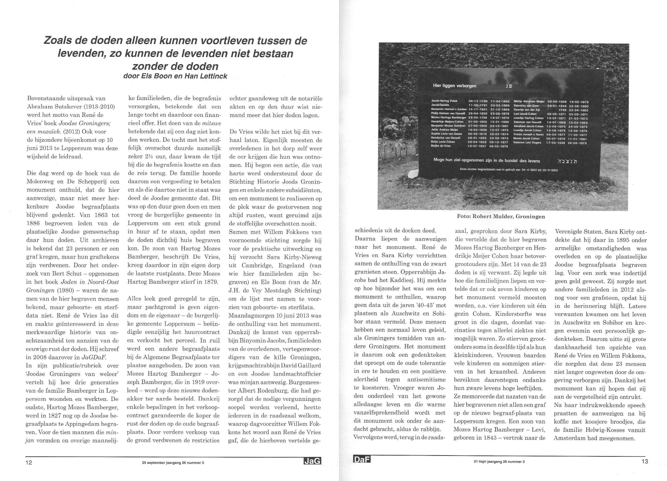 artikel Loppersum - Molenweg